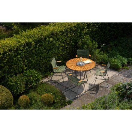 """Houe Tisch """"Circle"""" mit Gartenstühlen """"Click"""""""