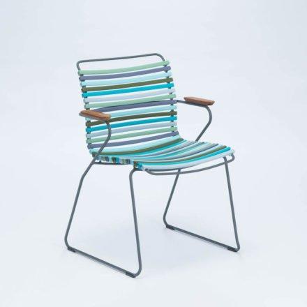 """Stuhl """"Click"""" von Houe, mit Armlehnen, bunt - kühle Farben"""