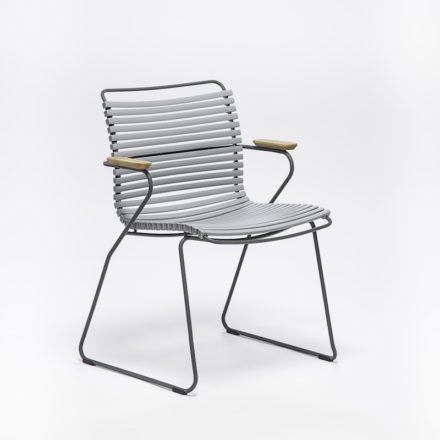 """Stuhl """"Click"""" von Houe, mit Armlehnen, Farbe grau"""