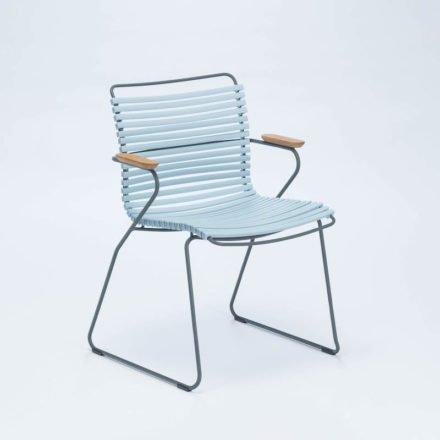 """Stuhl """"Click"""" von Houe, mit Armlehnen, Farbe hellblau"""