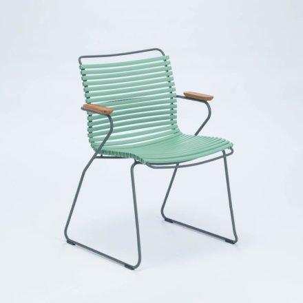 """Stuhl """"Click"""" von Houe, mit Armlehnen, Farbe helllgrün"""