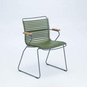 """Stuhl """"Click"""" von Houe, mit Armlehnen, Farbe olivgrün"""