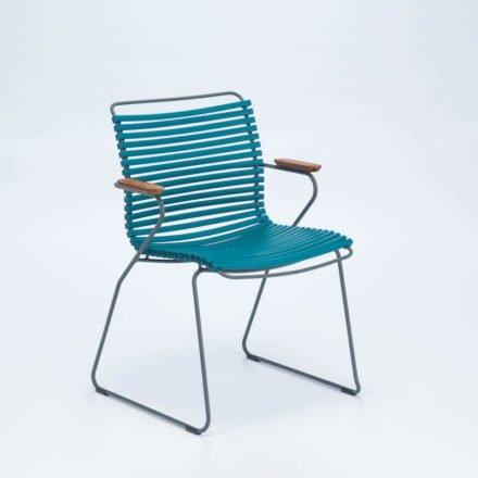 """Stuhl """"Click"""" von Houe, mit Armlehnen, Farbe petrol"""