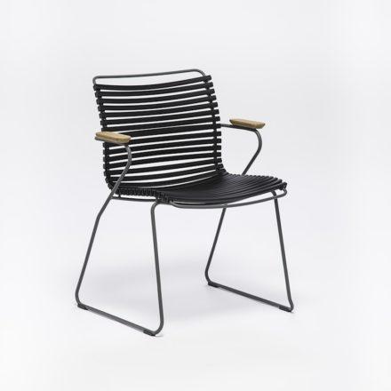 """Stuhl """"Click"""" von Houe, mit Armlehnen, Farbe schwarz"""