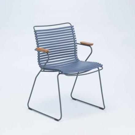 """Stuhl """"Click"""" von Houe, mit Armlehnen, Farbe taubenblau"""