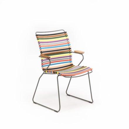 """Stuhl """"Click"""" von Houe, hohe Rückenlehne, Farbe bunt"""