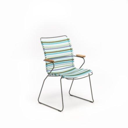 """Stuhl """"Click"""" von Houe, hohe Rückenlehne, Farbe bunt - kühle Farben"""