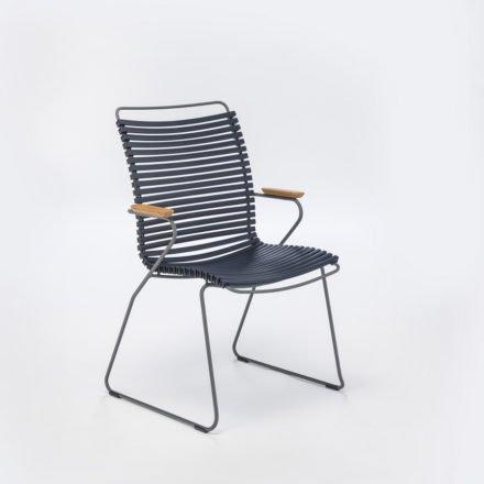 """Stuhl """"Click"""" von Houe, hohe Rückenlehne, Farbe dunkelblau"""