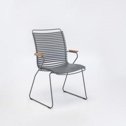 "Stuhl ""Click"" von Houe, hohe Rückenlehne, Farbe dunkelgrau"