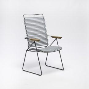 """Stuhl """"Click"""" mit verstellbarer Rückenlehne von Houe, Farbe grau"""