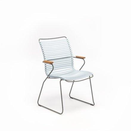 """Stuhl """"Click"""" von Houe, hohe Rückenlehne, Farbe hellblau"""
