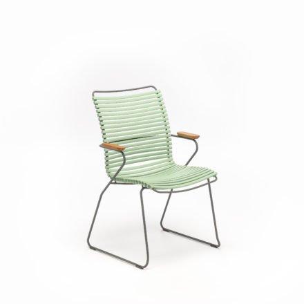 """Stuhl """"Click"""" von Houe, hohe Rückenlehne, Farbe hellgrün"""