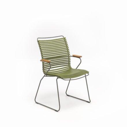 """Stuhl """"Click"""" von Houe, hohe Rückenlehne, Farbe olivgrün"""