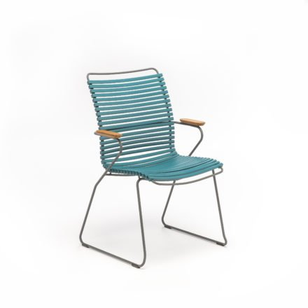 "Stuhl ""Click"" von Houe, hohe Rückenlehne, Farbe petrol"