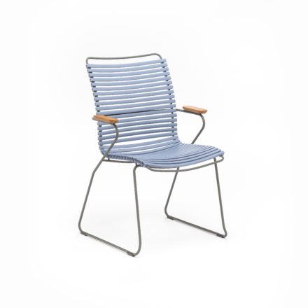 "Stuhl ""Click"" von Houe, hohe Rückenlehne, Farbe taubenblau"