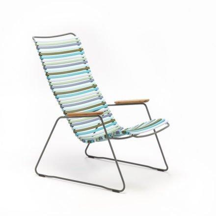 """Lounge Chair """"Click"""" von Houe, bunt - kühle Farben"""