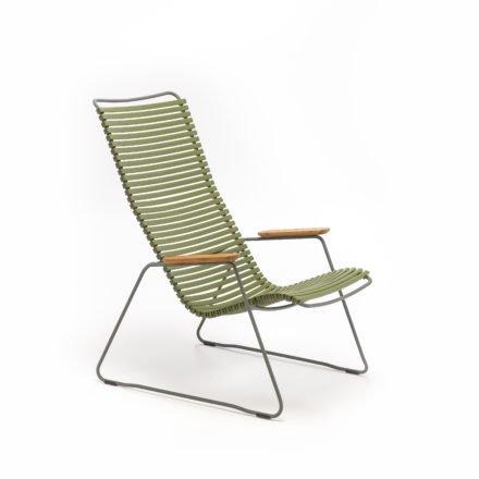 """Lounge Chair """"Click"""" von Houe, Farbe olivgrün"""