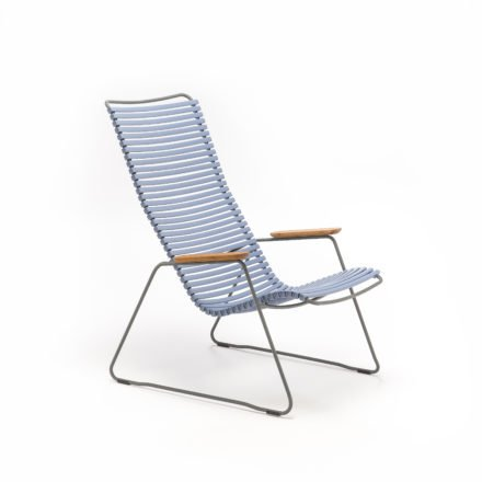 """Lounge Chair """"Click"""" von Houe, Farbe taubenblau"""
