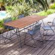 """Houe """"Sketch"""" Tisch aus Stahl und Bambus"""