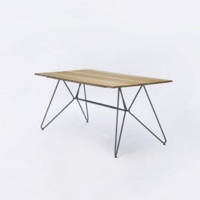 "Houe ""Sketch"" Tisch 160x88cm, Aluminium mit Bambus-Lamellen"