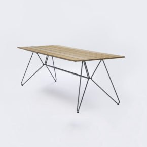 "Houe ""Sketch"" Tisch 220x88cm, Aluminium mit Bambus-Lamellen"