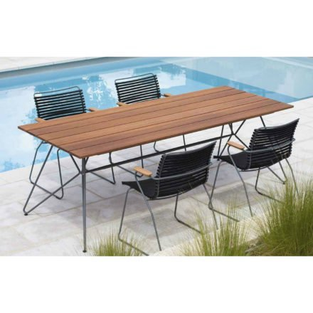 """Houe Gartenmöbel-Set mit Tisch 160cm """"Sketch"""" und Stapelsesseln """"Click"""""""