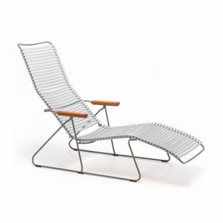 """Sunlounger """"Click"""" von Houe, mit verstellbarer Rückenlehne, Farbe grau"""