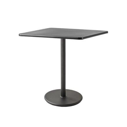 """Cane-line Bistrotisch """"Go"""", Gestell und Tischplatte Aluminium lavagrau"""