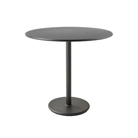 """Cane-line Bistrotisch """"Go"""", Gestell und Tischplatte Aluminium lavagrau, ø 80 cm"""