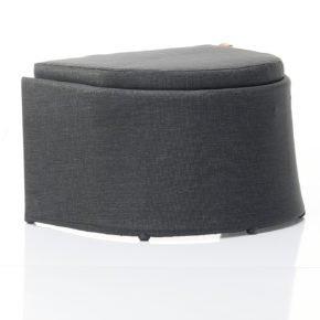 Loungehocker Diva von Solpuri, Aluminium, Leisuretex (anthrazit), mit Sitzpolster