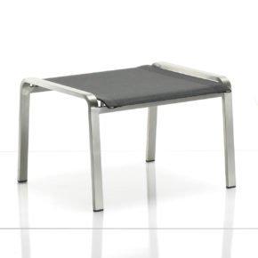 Deckchair-Hocker Jazz von Solpuri, Edelstahlgestell, Leisuretexbespannung anthrazit