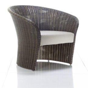 Loungeserie Primadonna, Loungesessel von Solpuri, Polyrattan coco brown