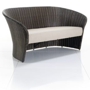 Loungesofa Primadonna, 2-Sitzer von Solpuri, Polyrattan coco brown