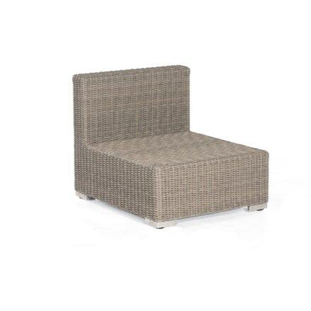 "SonnenPartner Lounge Mittelteil ""Residence"", Gestell: Aluminium, Polyrattan stone-grey"