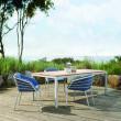 """Solpuri Gartenmöbel-Set mit Gartenstuhl """"Provence"""" und Gartentisch """"Classic"""", Aluminium dove"""