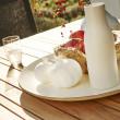 Gartentisch Classic (Aluminium) von Solpuri, Teakholztischplatte