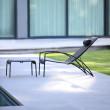 Deckchair QT195, Relaxchair von Royal Botania, Edelstahlgestell pulverbeschichtet in schwarz, Bespannung Batyline schwarz