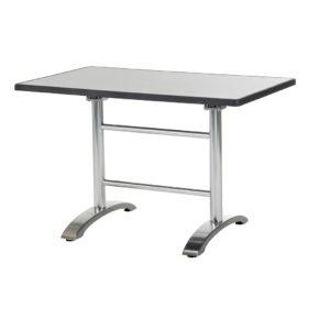 Doppeltischgestell Cella von Diamond Garden, Aluminium poliert, mit DiGalit Platte