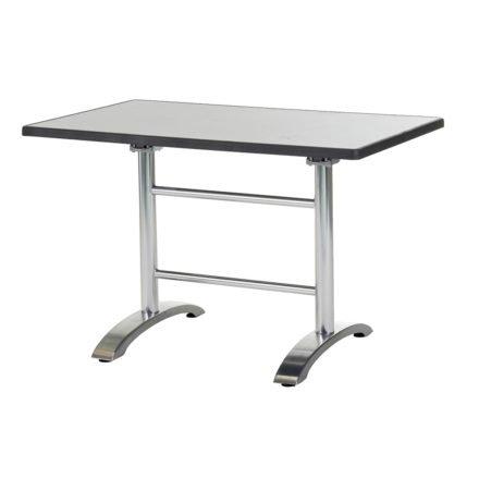 "Diamond Garden ""Cella"" Doppeltischgestell, Aluminium poliert, mit DiGalit Platte, Metall gebürstet"