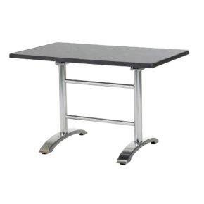 "Diamond Garden ""Cella"" Doppeltischgestell, Aluminium poliert, mit DiGalit Platte, Pizarra"