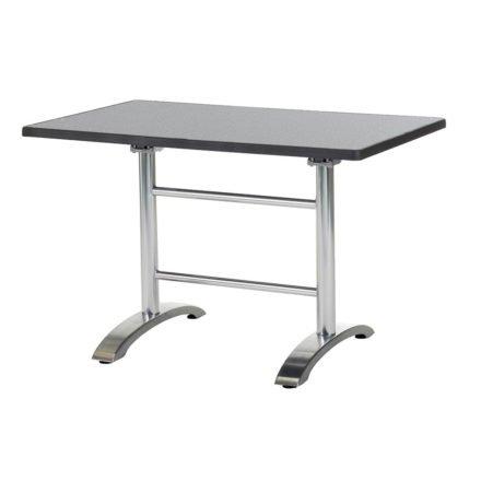"Diamond Garden ""Cella"" Doppeltischgestell, Aluminium poliert, mit DiGalit Platte, Punti"