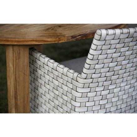 Gartenstuhl Jackson in white shell von Diamond Garden, Detailaufnahme