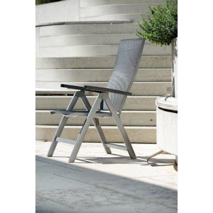 """Klappstuhl """"New Top"""" von Stern, Gestell Aluminium graphit, Textilgewebe silbergrau"""