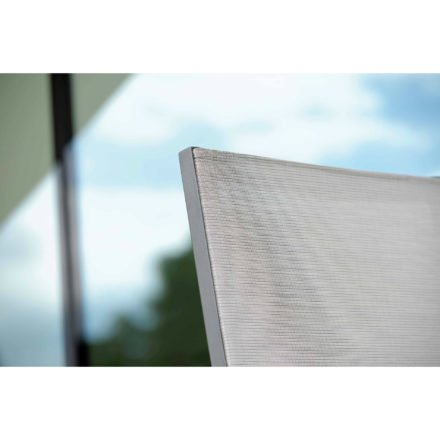 """Klappsessel """"New Top"""" von Stern, Gestell anthrazit, Textilgewebe silber"""