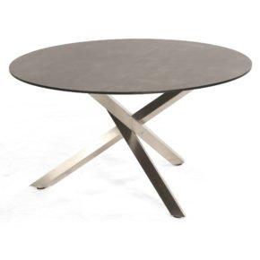 "SonnenPartner Tisch ""Base-Spectra"", Gestell Edelstahl, Platte HPL Beton dunkel, Durchmesser 135 cm"