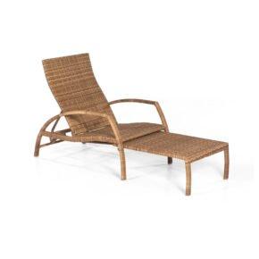 "SonnenPartner Deckchair ""Mauritius"", Polyrattan natura-antik"