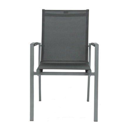 "Stern Stapelsessel ""New Levanto"", Gestell Aluminium graphit, Sitzfläche Textil silbergrau"