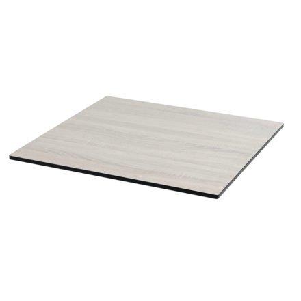 Tischplatte DiGa compact (HPL) von Diamond Garden, Eiche sägerau, 68x68cm, 20° Fase
