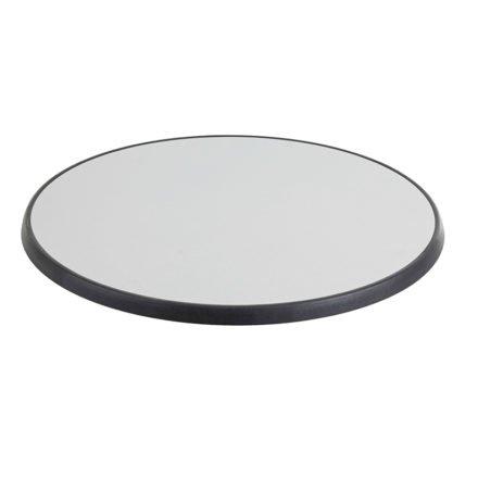 Diamond Garden Tischplatte DiGalit, Metall gebürstet, Durchmesser 70 cm