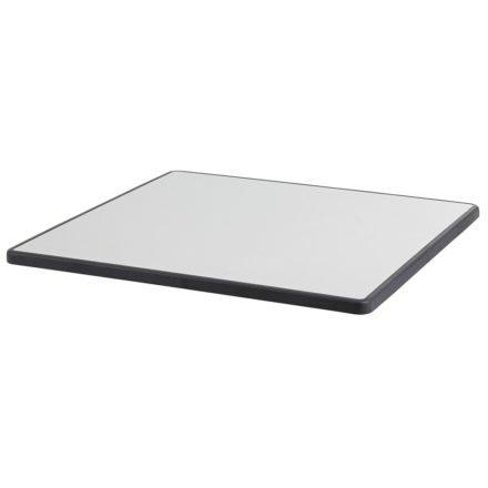 Diamond Garden Doppeltischplatte DiGalit, Metall gebürstet, 70x115 cm
